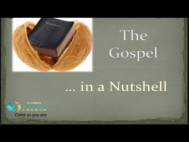 The Gospel .......in a Nutshell