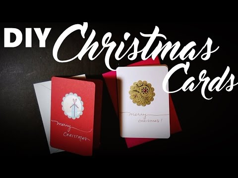 DIY Recycled Christmas Cards