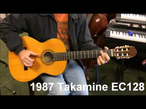 1987 Takamine EC128 Pro Series Acoustic Electric Classical Guitar