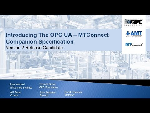 OPC UA for MTConnect - Webinar from 26 02 2019
