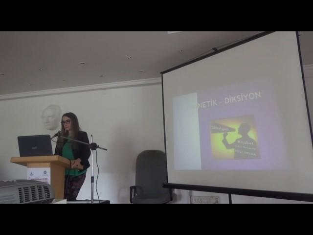 Y. Doç. Dr.Tuğçe Mine Aktulay ÇAKIR - Sanatçı  Yetiştiren  Lisans  Programlarında,  Diksiyon...