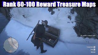 RDR2 Rank 60 - 100 Reward Treasure Maps - Red Dead Redemption 2 Online PS4 Pro