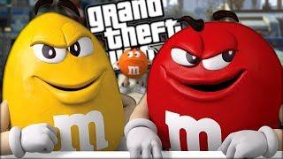 THE YELLOW M&M VS THE RED M&M CANDY MOD (GTA 5 PC Mods Gameplay)