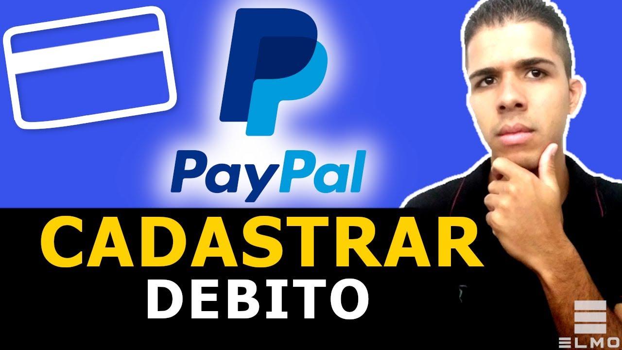 Como cadastrar cartão de débito no PayPal - Elmo
