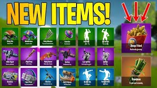 Fortnite LEAKED NEW ITEMS v 5.2 Emotes, Gliders, Back Bling, and MORE!!!