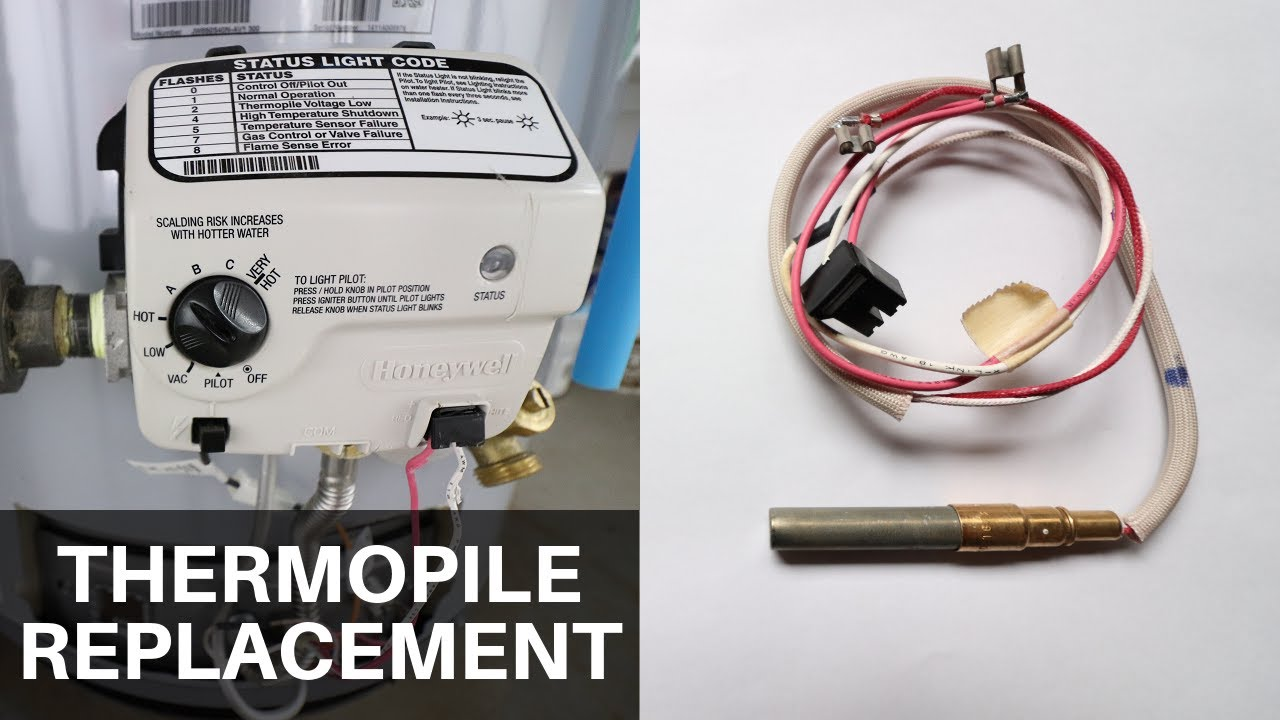 Thermopile Replacement on a Water Heater on