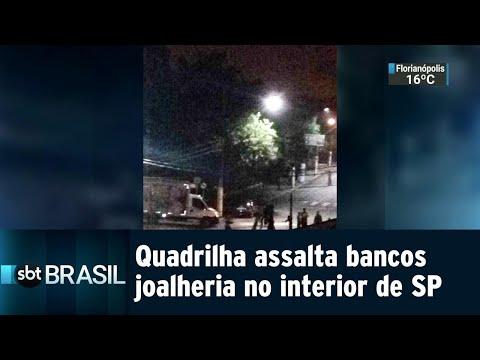 Quadrilha explode bancos e rouba joalheria no interior de SP   SBT Brasil (08/08/18)
