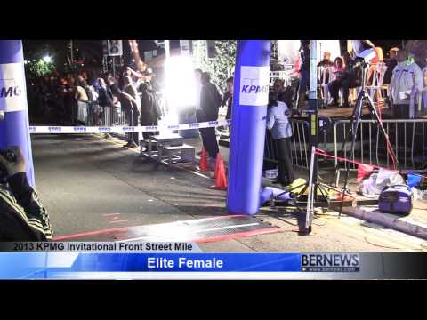 Elite Females Race At Front Street Mile, Jan 18 2013