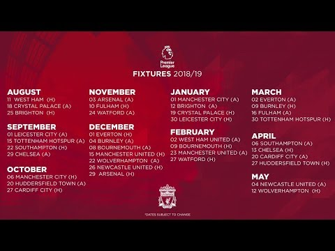 LIVERPOOL'S PREMIER LEAGUE 2018/19 FIXTURES REVEALED   GREAT START & RUN-IN ANALYSED