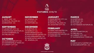 Liverpool's premier league 2018/19 fixtures revealed | great start & run-in analysed
