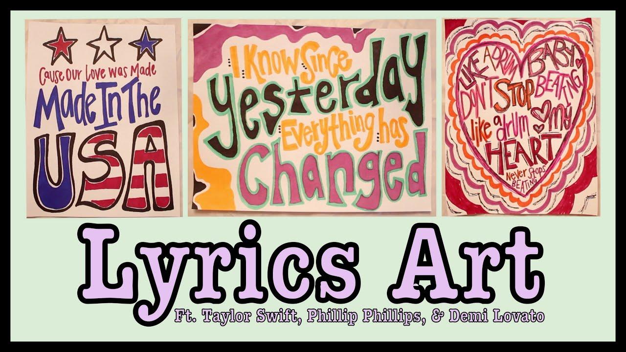 How to Make Lyric Art