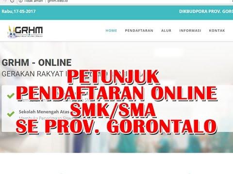 Cara Registrasi Pendaftaran Siswa Baru Online Gorontalo