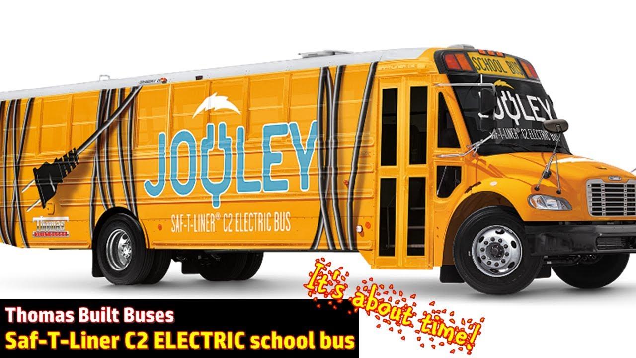 Thomas Built Buses >> Finally! Thomas Built buses ELECTRIC school bus - YouTube