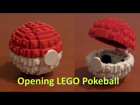 How To Build A Lego Pokemon Pokeball That Opens Youtube