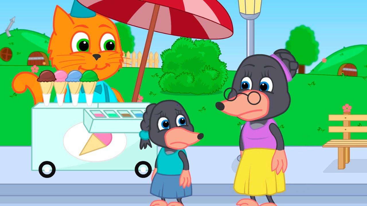 Benny Mole em Español - Mamá no Quiere Comprar Helado Dibujos animados para niños
