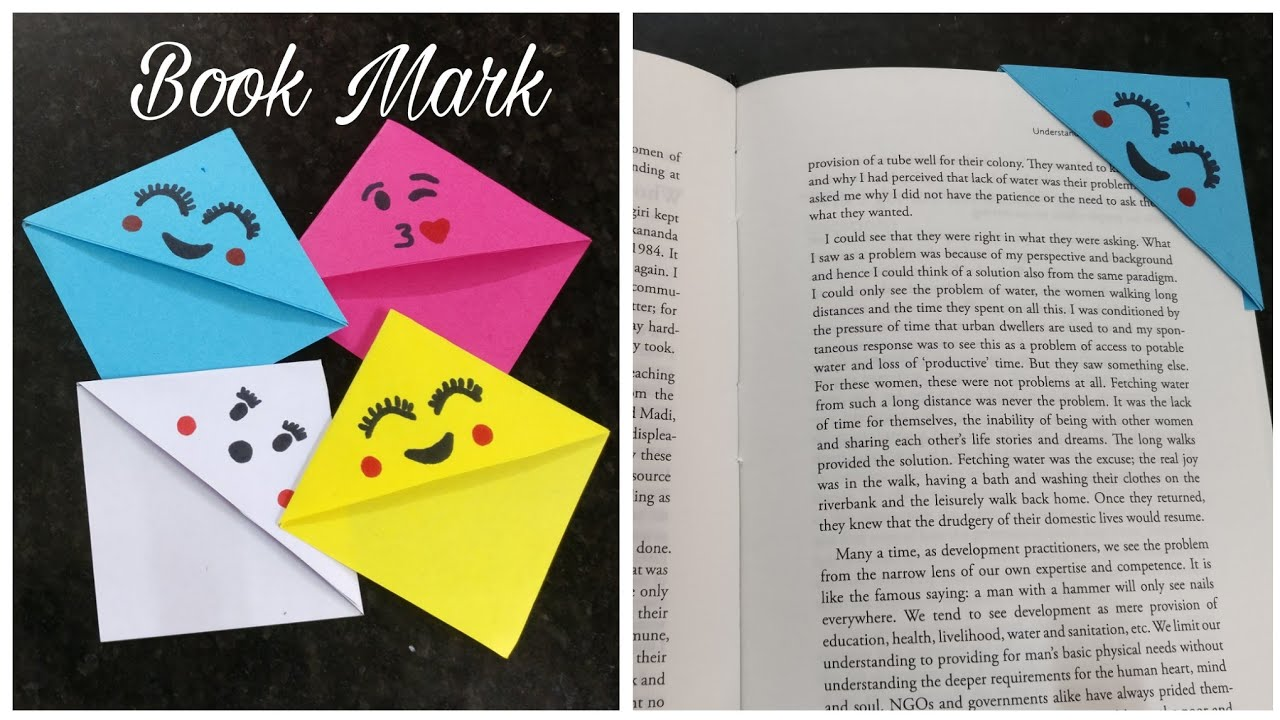 Here are Some Really Cute Bookmarks That You Can Make At Home | Origami  bookmark corner, Origami bookmark, Bookmarks handmade | 720x1280
