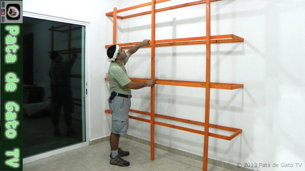 Estructura ligera para librero de piso y pared  Light