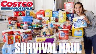 MASSIVE CRAZY COSTCO HAUL FOR BIG FAMILY | SHOPPING FOR LONG SHELF-LIFE FOOD STORAGE