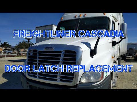 Freightliner Cascadia door latch lock remove replacement