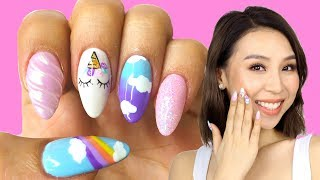 I Got Unicorn Nails! Tina Yong