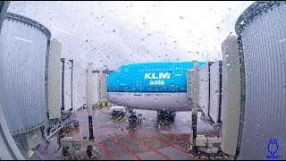 KLM 747-400 Combi AMS to PEK World Business Class