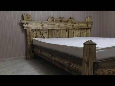 Cмотреть видео онлайн Кровать своими руками Homemade Bed