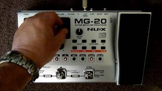Nux MG-20 guitar modelling processor review