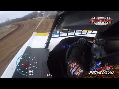 #3 Brennon Willard - Late Model - 11-23-19 Springfield Raceway- In Car Camera