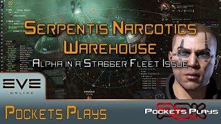 EVE Online: Alpha running a Serpentis Narcotics Warehouse