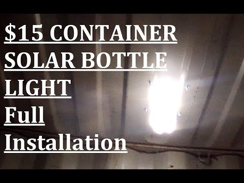 15$ Shipping Container SOLAR LIGHT Full Install!
