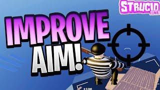 HOW TO IMPROVE AIM IN STRUCID (ROBLOX FORTNITE)