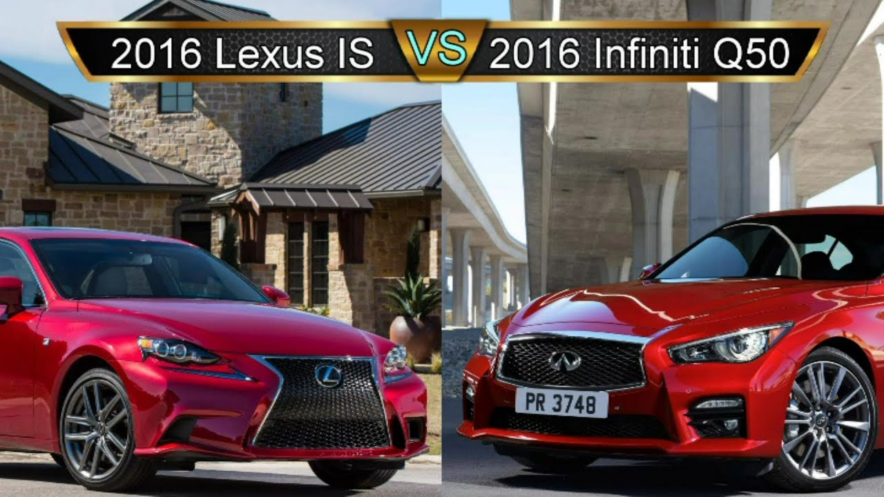 2016 Lexus Is Vs Infiniti Q50 Compact Sport Sedan Smackdown Part 2 By The Numbers