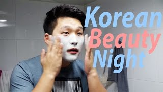 Korean skincare night. 국제 신혼부부의 한밤의 피부관리 / AMWF Video