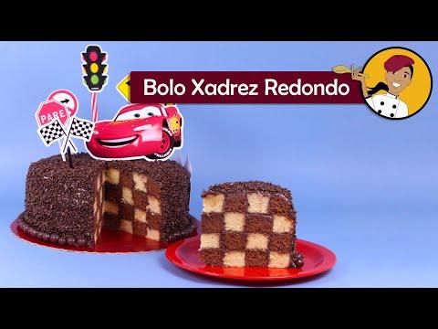 Bolo Xadrez Redondo - Chef Silvia Nicolau - [ Lista de ingredientes na descrição do vídeo]
