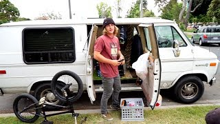 MEET YOUNG BMX RIDER LIVING IN HIS 93 VANDURA IN LOS ANGELES