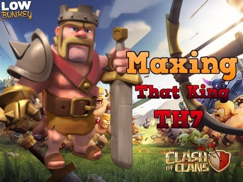 How To Get barbarian King At Town Hall 7 ( Dark elixer Farming attack strategy )