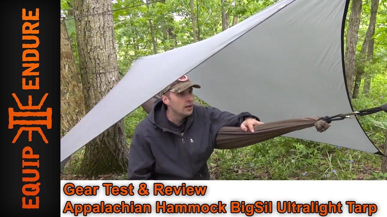 appalachian hammock bigsil ultralight tarp gear test  u0026 overview by equip 2 endure appalachian hammock bigsil ultralight tarp gear test  u0026 overview by      rh   youtube