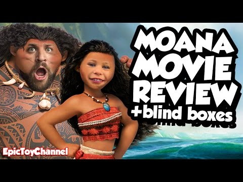 MOANA Disney Toys & Moana Movie Review + Moana Blind Boxes with Surprise Toys + Maui & Family Fun
