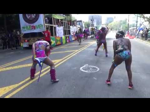 WEST INDIAN LABOR DAY CARIBBEAN PARADE CARNIVAL 2018 - TRINIDAD HAITIAN GRENADA GIRLS DANCE