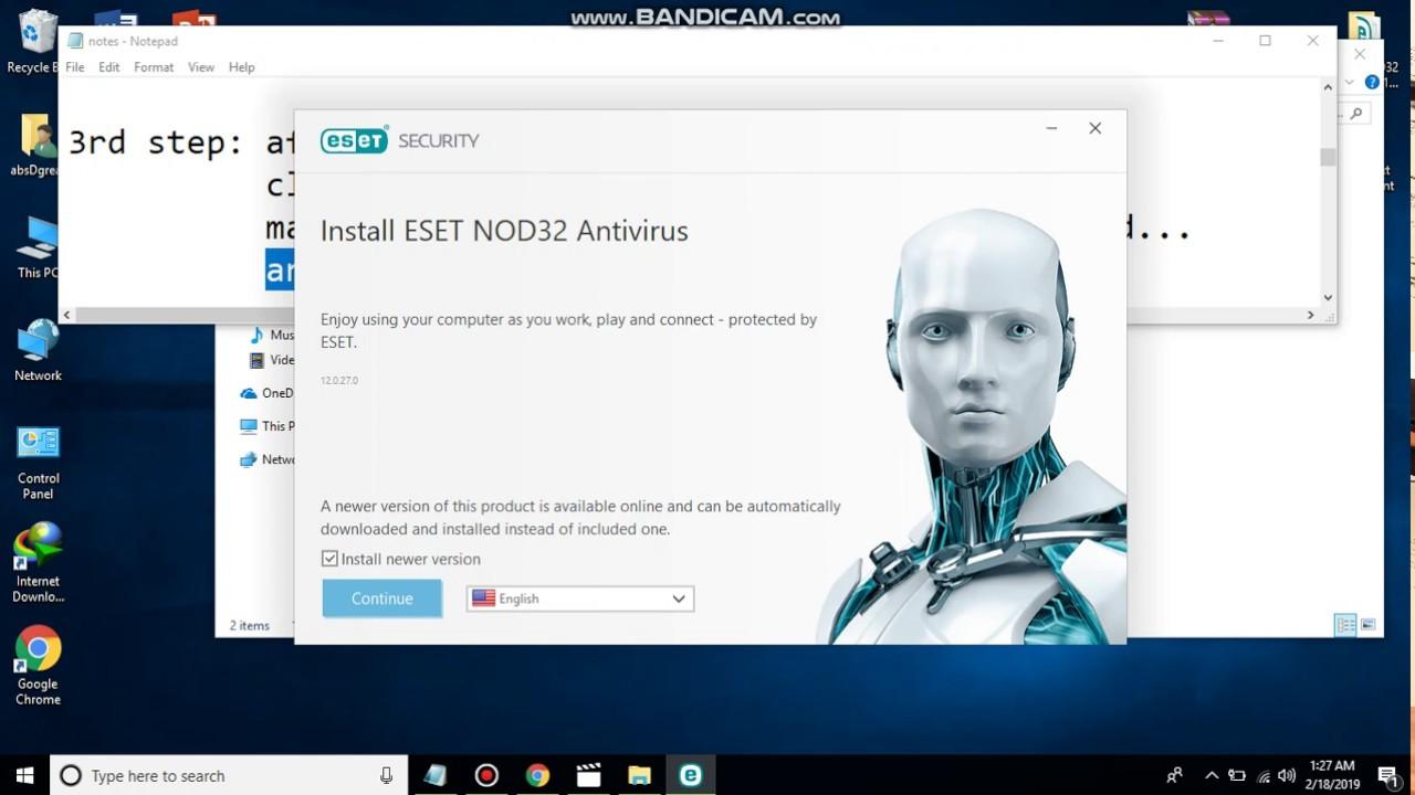 100% Working ESET NOD32 Antivirus12 - Free Download ...