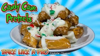 White Chocolate Candy Cane Pretzel Bites Recipe