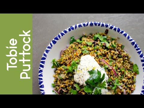 Ancient Grain Salad with Coriander, Yogurt and Cumin