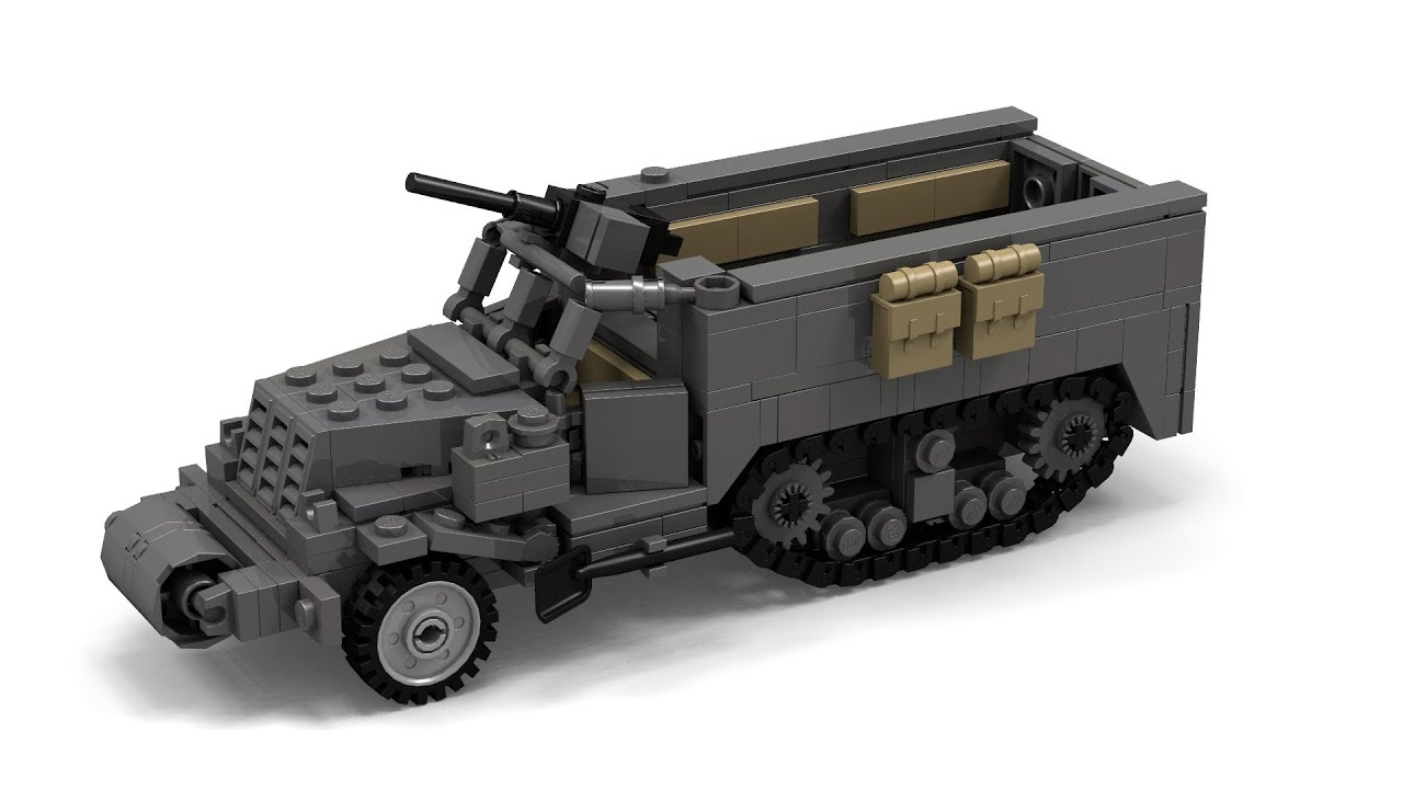 Military Tank For Sale >> Lego WWII M3 Halftrack Instructions - YouTube