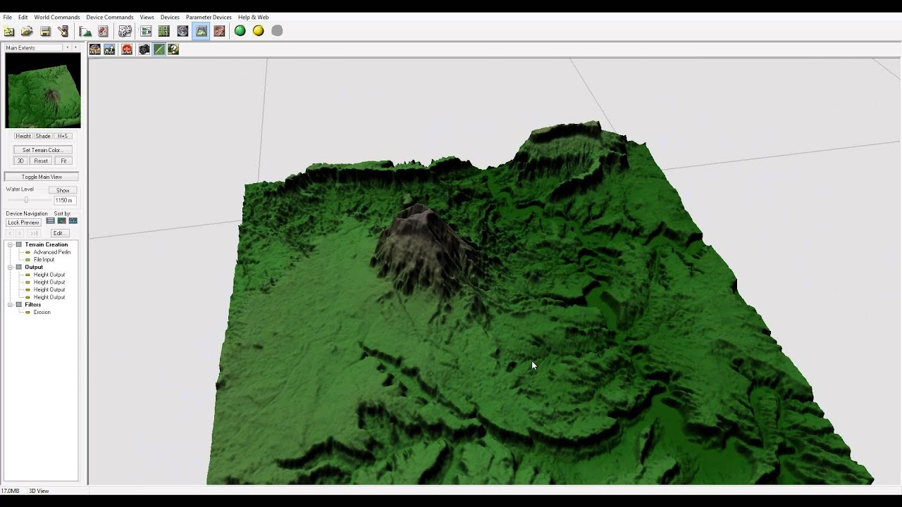DEM Maps Importing Enchance Details World Machine And Vue - Google earth elevation data