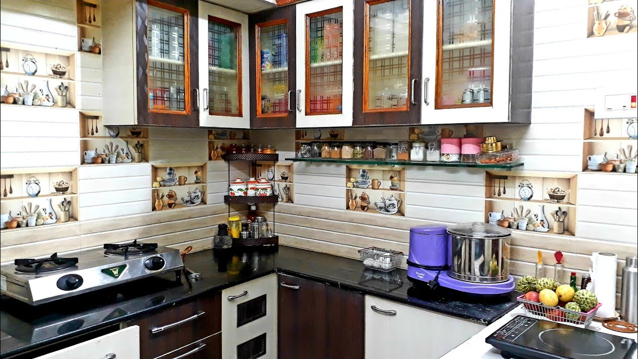 Kitchen Tour / Kitchen Organization in Tamil / Small Kitchen Organization
