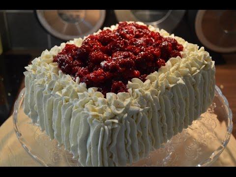 Norwegian Birthday Cake Part 4 Square decorated with cream YouTube