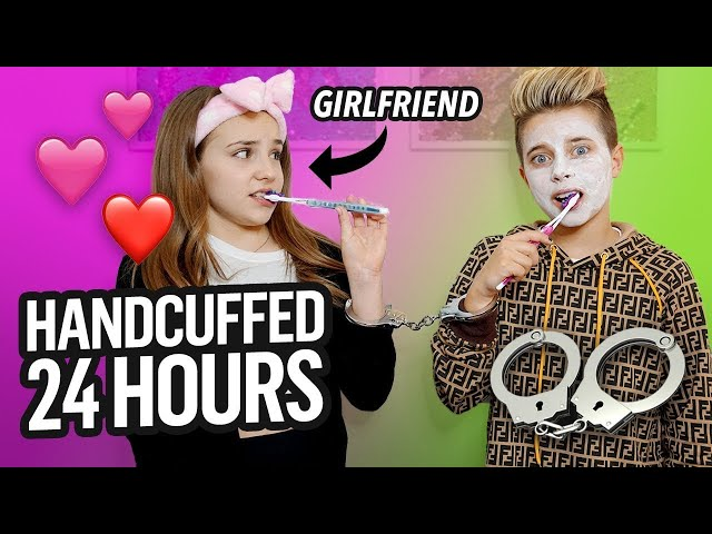24 Hours HANDCUFFED to Piper Rockelle (Night Time CHALLENGE) | Gavin Magnus