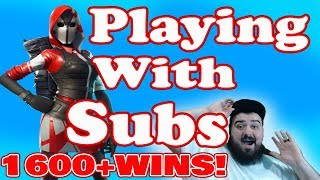 Playing With Subs (READ DESCRIPTION) //1600+WINS// Xbox one fortnite player live