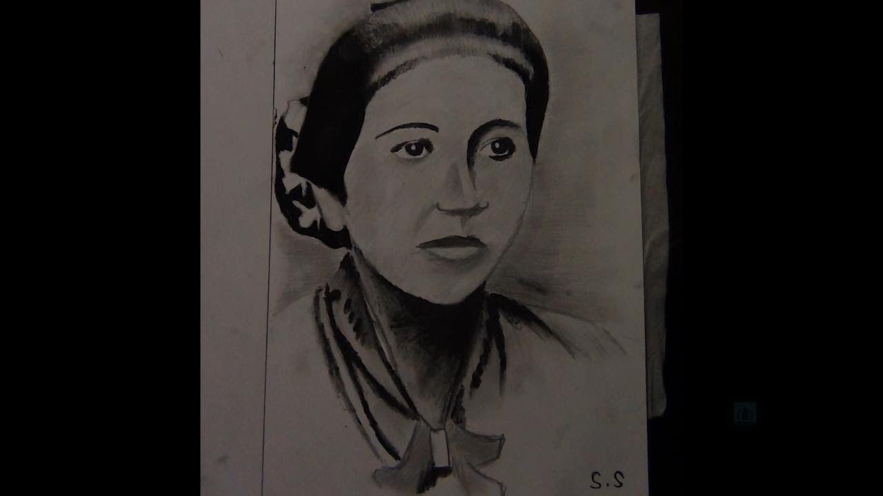 Lukisan Gambar Dan Sketsa Pahlawan Ibu Ra Kartini Enportu Blog