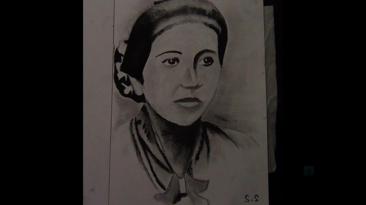 Sketsa Gambar Pahlawan Ra Kartini